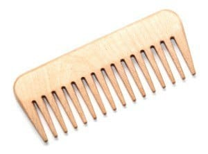 Wide Tooted Wood Comb