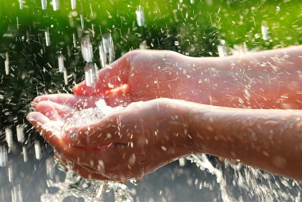 Use rain water to save your hair from hard water