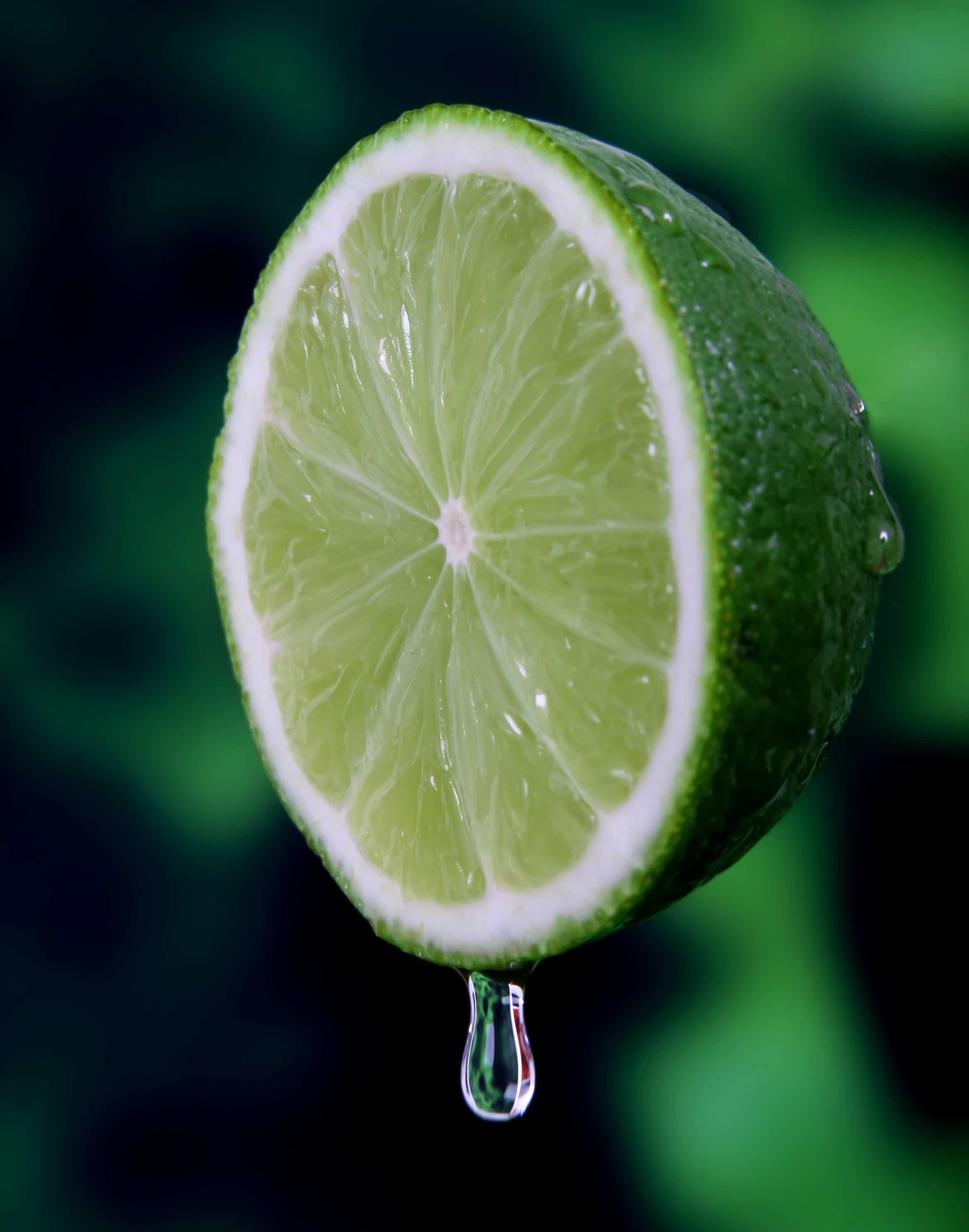 Lime juice clarifying rinse