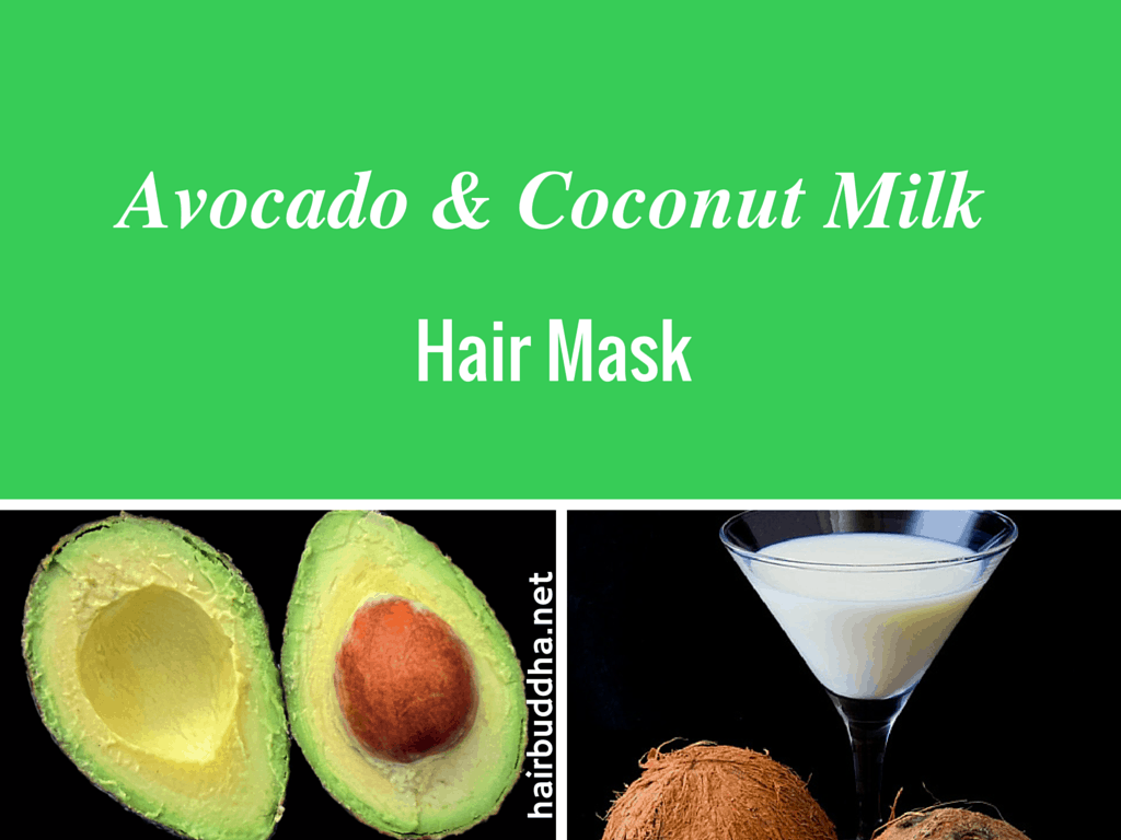Whipped Avocado & coconut milk hair mask