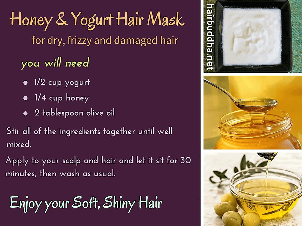 Yogurt and Honey Hair Mask for Dry, Damaged Hair