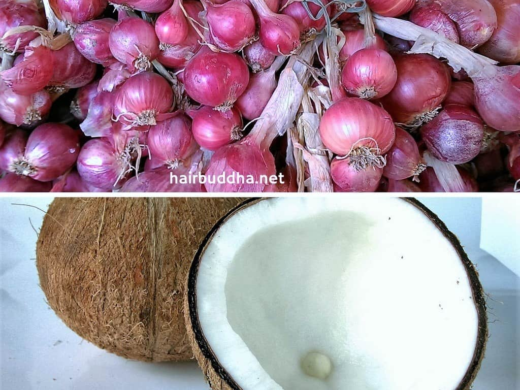 onion and coconut oil for hair growth