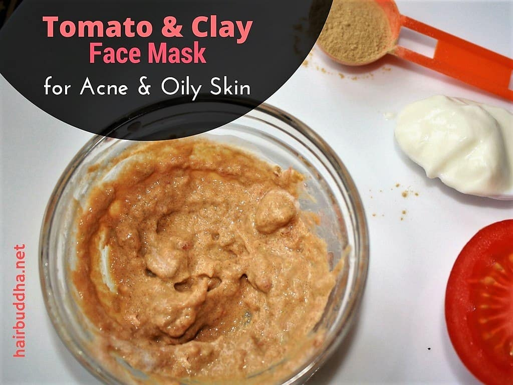 tomato and clay face mask for acne