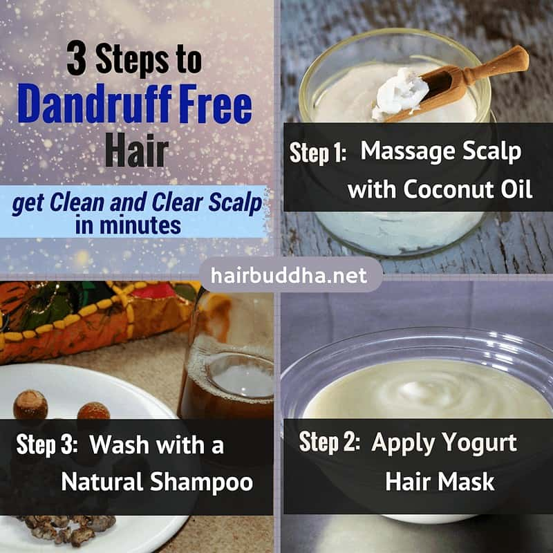 how to get dandruff free hair naturally