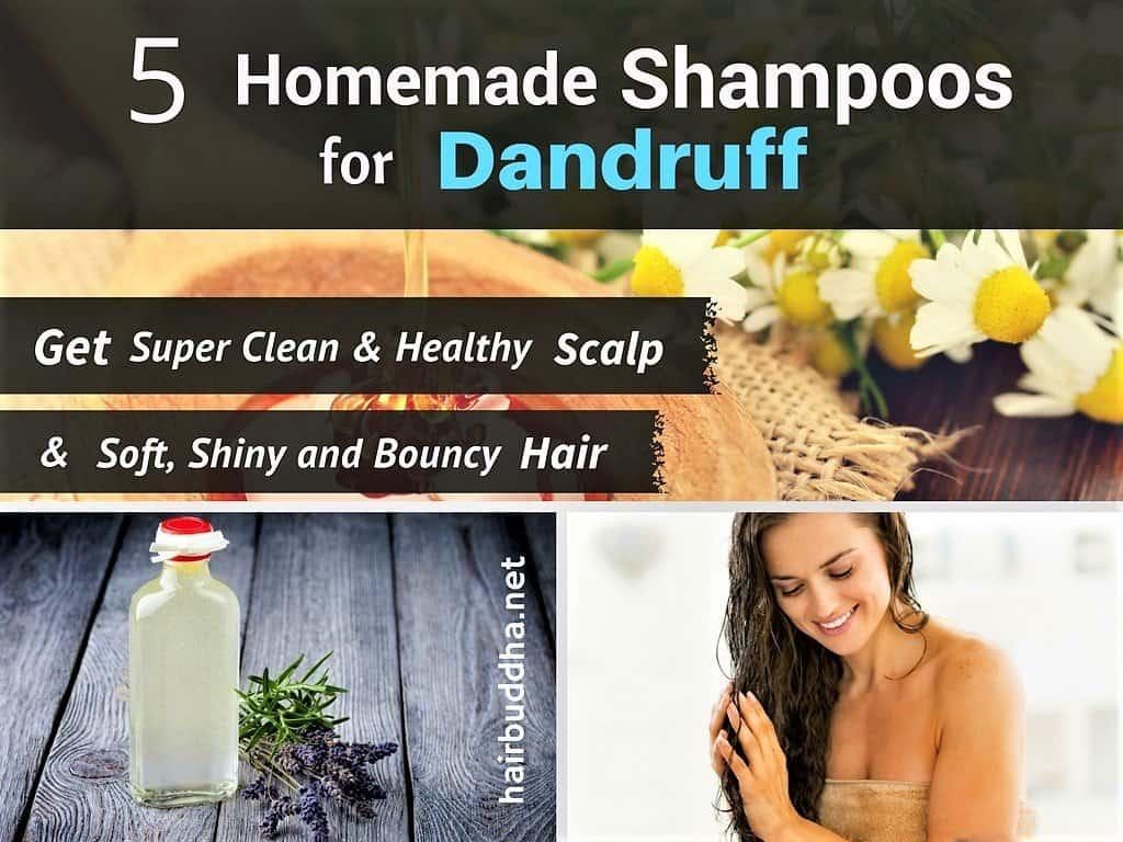 5 homemade anti-dandruff shampoos: get clean & clear scalp - hair buddha