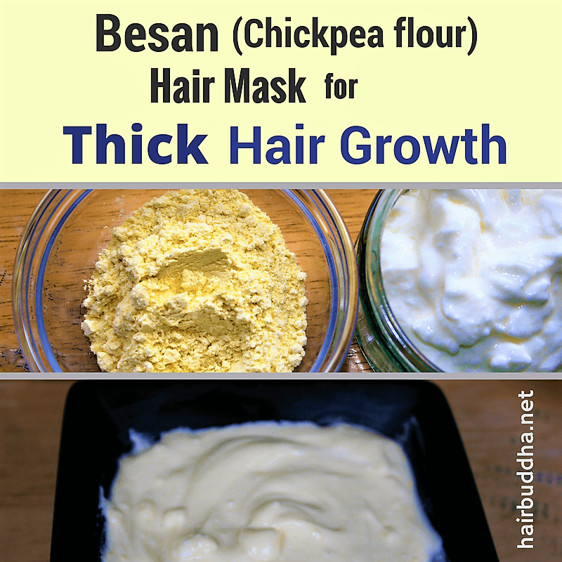 Besan hair mask for thick hair growth