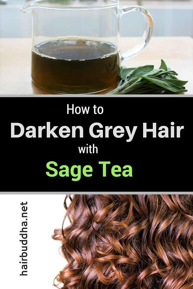 How to darken grey hair with sage tea