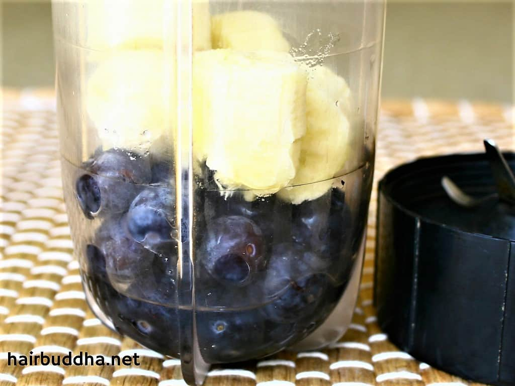 Blueberry and Banana Smoothie for Amazing Hair & Skin