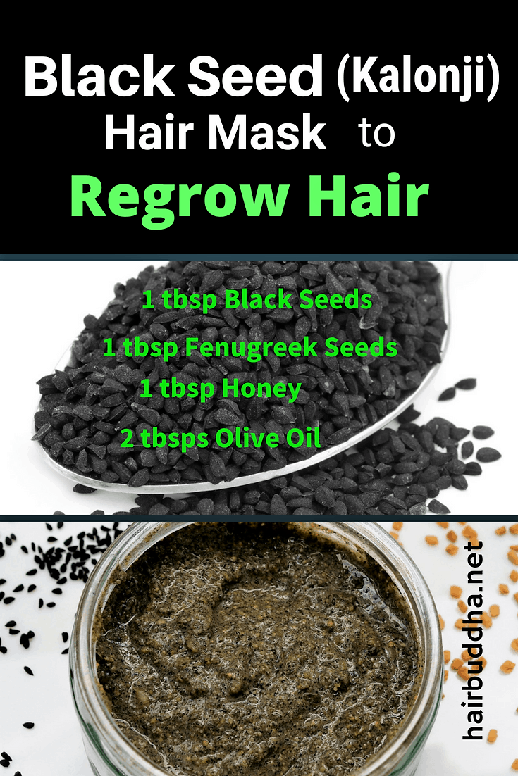 Black seed (kalonji) hair mask to regrow lost hair