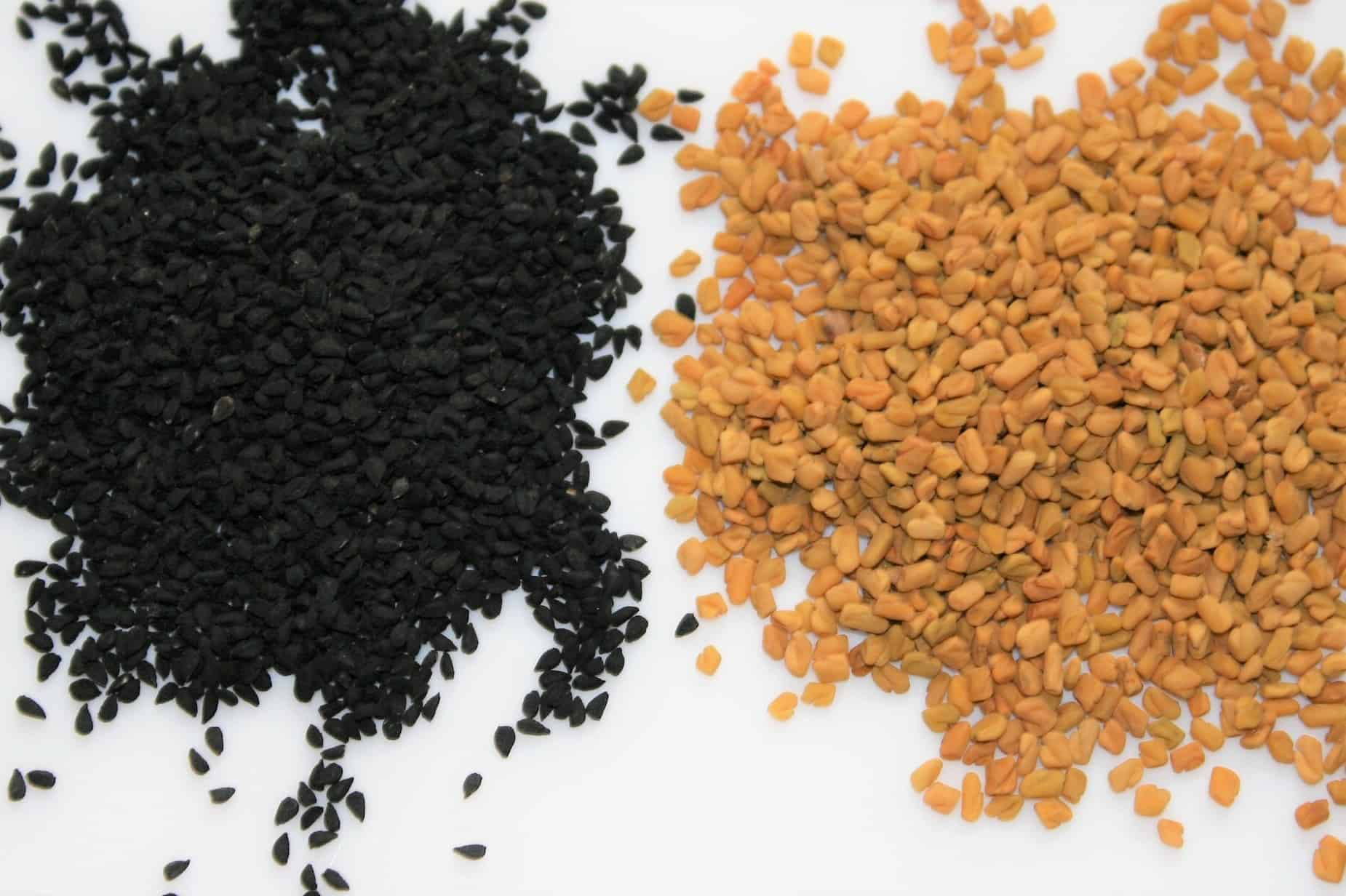 Black seeds and fenugreek seeds