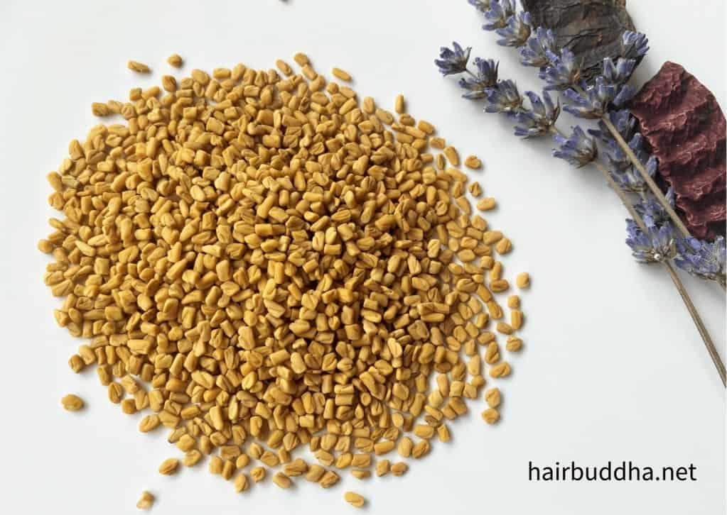 Fenugreek seeds for hair spray
